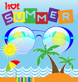 Hot Summer Card vector image