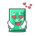 in love rectangle mascot cartoon style vector image