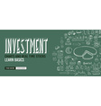 Investment Chart concept with Doodle design style vector image vector image