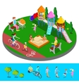 Isometric Children Playground in the Park vector image vector image