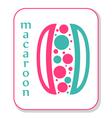 Macaroon icon vector image vector image