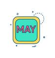 may calender icon design vector image