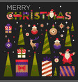 merry christmas from out family to yours greeting vector image vector image