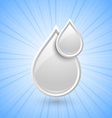 Milk drops icon vector image vector image