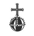 monarch orb heraldic symbol vector image