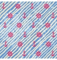 Nautical pattern on grunge strips background vector image