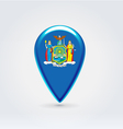 New York icon point for map vector image vector image