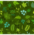 Pattern with stylized green leaves vector image vector image