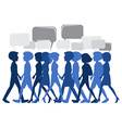 People walking with empty callouts vector image vector image