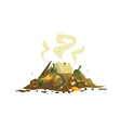 pile of decaying garbage waste processing and vector image vector image