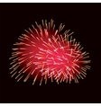 Red fireworks on dark background vector image vector image