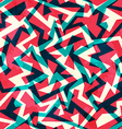 red labyrinth seamless pattern vector image vector image