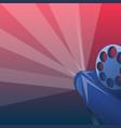retro cinema concept background cartoon style vector image vector image