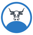 rounded bull boss flat icon vector image