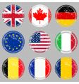 rubber stamps with flags vector image