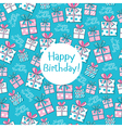 seamless pattern happy birthday vector image vector image