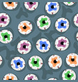 seamless pattern with eyes halloween pattern vector image vector image