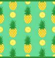 seamless pattern with pineapples and pineapple vector image vector image