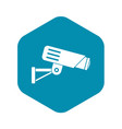 security camera icon simple style vector image vector image