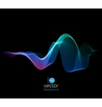 Shiny color waves over dark backgrounds vector image