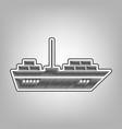 ship sign pencil sketch vector image vector image