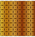square pattern on gold background vector image