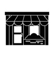 store front isolated icon vector image