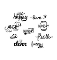 Style words phrases handwritten lettering vector image