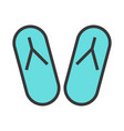 summer flip-flops icon vector image