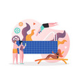 swimming pool concept for web banner vector image