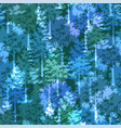 trees seamless background vector image vector image