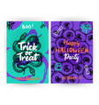 trick or treat flyer template vector image vector image