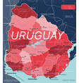 uruguay country detailed editable map vector image vector image