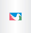 white dove logo icon design vector image vector image