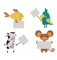Wild animal zoo strike with clean plate board vector image vector image