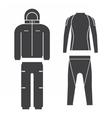 Winter Sport Suit vector image vector image
