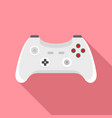 wireless gamepad icon flat style vector image vector image