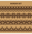 Brown Border Pattern Set vector image