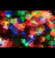 abstract colorful polygonal which consist of vector image vector image