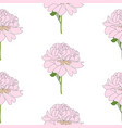 abstract hand drawn peony flower seamless pattern vector image vector image