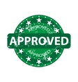 Approved green stamp vector image vector image