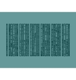 barcode pencil strokes painted vector image vector image