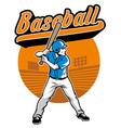 baseball player stand and ready to hit vector image vector image