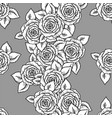 beautiful black and white seamless pattern vector image vector image