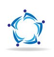 blue teamwork business people vector image