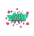 Boom Comic Speech Bubble vector image