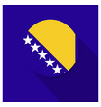 bosnia flag design vector image