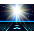 Bright sun burst Fantasy cosmic background vector image vector image