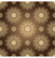 Browne seamless pattern with shiny flowers vector image vector image