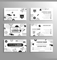 business cards - template abstract bw vector image